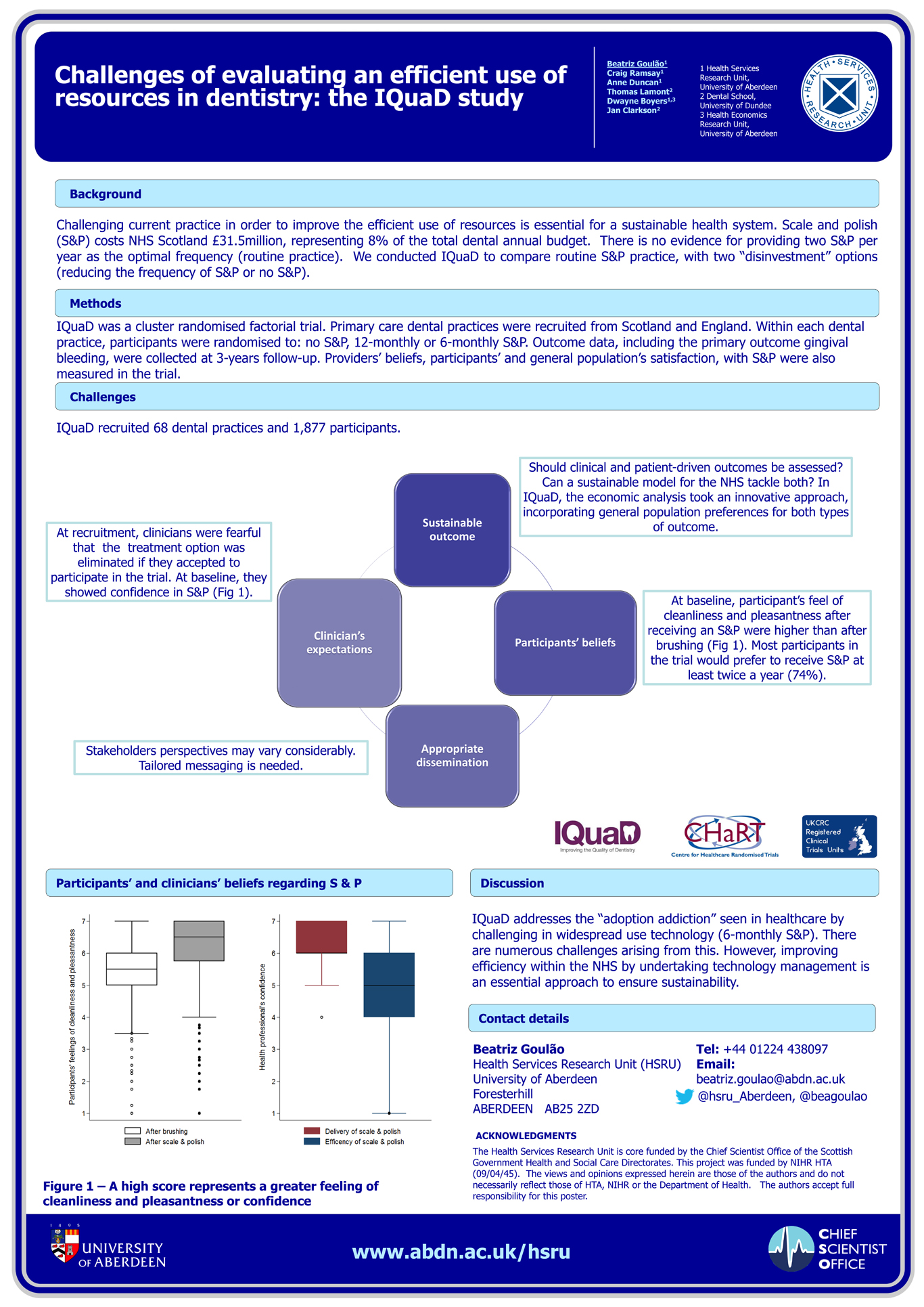 B Goulão - Challenges of evaluating an efficient use of resources in dentistry: the IQuaD study.