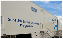 Photo of a mobile breast screening unit